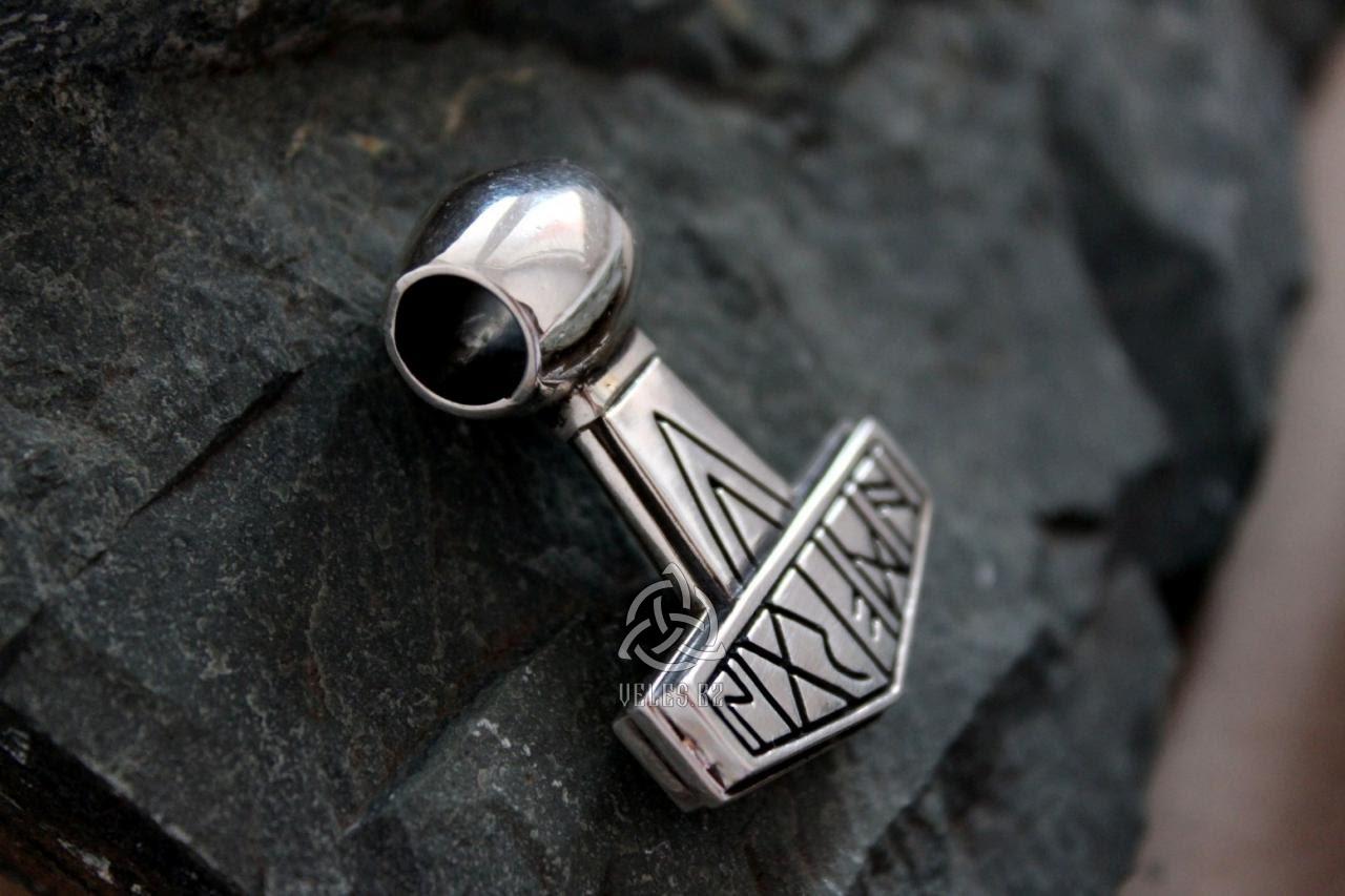 купить амулет молот тора из серебра