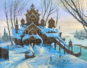 """Картина """"Посреди зимы"""""""