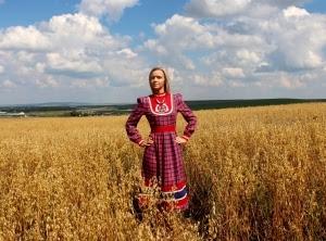 """Платье льняное """"Жар-птица"""""""