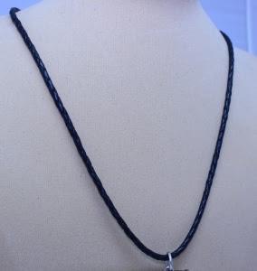 Шнур плетеный без вставок (кожа+сребро)