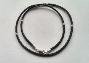 Шнур с серебряными вставками